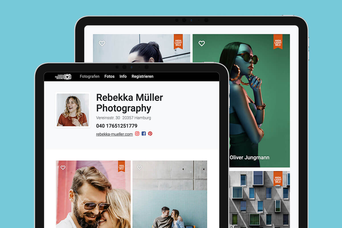 Fotografensuche mit verbessertem Konzept