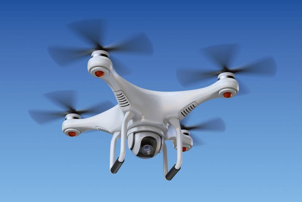 Kamera-Drohnen beim Hochzeits-Fotoshooting