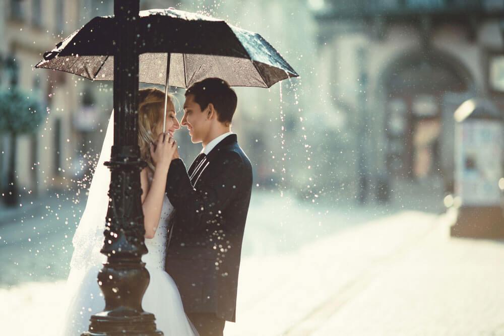Hochzeit im Regen – so fotografierst Du bei schlechtem Wetter